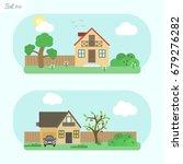 family home   icon set 11....   Shutterstock .eps vector #679276282