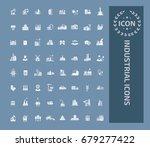 industry icon set vector | Shutterstock .eps vector #679277422