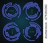 neon border design | Shutterstock .eps vector #679281082