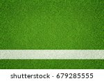 green grass with white line... | Shutterstock . vector #679285555