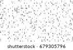 digital data hex code symbols....   Shutterstock . vector #679305796