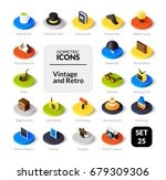 color icons set in flat... | Shutterstock .eps vector #679309306