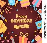 abstract happy birthday... | Shutterstock .eps vector #679309582
