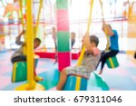 abstract blur happy kids... | Shutterstock . vector #679311046