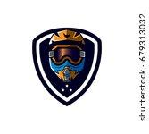 motocross sport emblem | Shutterstock .eps vector #679313032