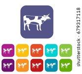 switzerland cow icons set...   Shutterstock .eps vector #679317118