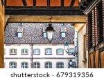 street hanging lamp in europe  | Shutterstock . vector #679319356