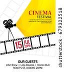 cinema festival poster template.... | Shutterstock .eps vector #679322518