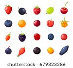 Set Single Berries  Cherry ...