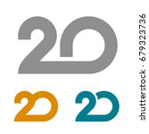 20 linked anniversary number... | Shutterstock .eps vector #679323736