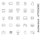 set of 25 outline icons for... | Shutterstock .eps vector #679326382