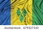 3d flag of saint vincent and... | Shutterstock . vector #679327132
