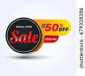 sale discount banner design... | Shutterstock .eps vector #679328386
