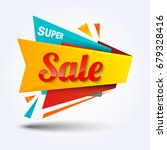sale discount banner design... | Shutterstock .eps vector #679328416