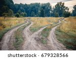 crossroads  two different... | Shutterstock . vector #679328566