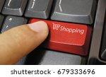 shopping cart symbol button on... | Shutterstock . vector #679333696