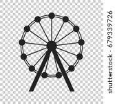 ferris wheel vector icon....   Shutterstock .eps vector #679339726