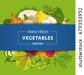 farm fresh vegetable banner... | Shutterstock .eps vector #679353952