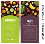 farm fresh fruit flyers vector...   Shutterstock .eps vector #679354015