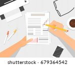 business top view  illustration | Shutterstock .eps vector #679364542