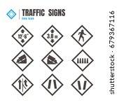 traffic sign icon set. logo.... | Shutterstock .eps vector #679367116