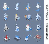 robot isometric professions set ... | Shutterstock .eps vector #679372546