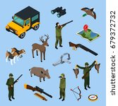 colored and isolated hunting... | Shutterstock .eps vector #679372732
