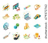 lottery isometric icons set... | Shutterstock .eps vector #679372762
