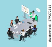 online conference concept... | Shutterstock .eps vector #679372816