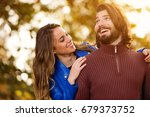cute couple hanging out in the... | Shutterstock . vector #679373752