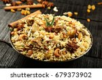 arabic food  mutton and rice... | Shutterstock . vector #679373902