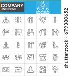 company  business people line... | Shutterstock .eps vector #679380652