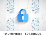 protection concept. protect... | Shutterstock .eps vector #679388308