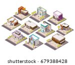 entertainment places isometric... | Shutterstock .eps vector #679388428