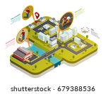 delivery isometric concept with ...   Shutterstock .eps vector #679388536