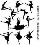 ballerinas | Shutterstock .eps vector #67938856