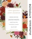 wedding invitation. summer and... | Shutterstock .eps vector #679393258