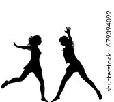 silhouettes of two woman... | Shutterstock . vector #679394092