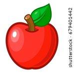 vector illustration. red apple...   Shutterstock .eps vector #679401442