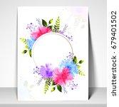 elegant greeting card or... | Shutterstock .eps vector #679401502