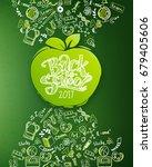 back to school vertical... | Shutterstock .eps vector #679405606