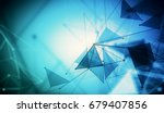 abstract mesh wireframe... | Shutterstock . vector #679407856