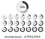 set of circle percentage... | Shutterstock .eps vector #679412965