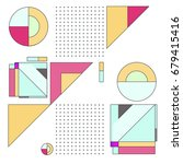 trendy geometrical vector... | Shutterstock .eps vector #679415416