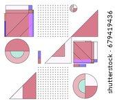 trendy geometrical vector... | Shutterstock .eps vector #679419436