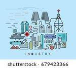 heavy industry complex ... | Shutterstock .eps vector #679423366