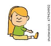 portrait girl granddaughter... | Shutterstock .eps vector #679424902
