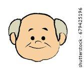 portrait  grandfather man...   Shutterstock .eps vector #679425196