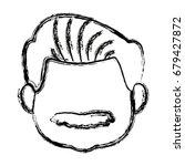 portrait  grandfather man...   Shutterstock .eps vector #679427872