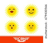 sun emotion cartoon | Shutterstock .eps vector #679430566